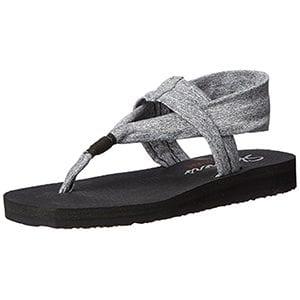 skechers yoga mat sandals. best stylish walking sandals for travel - skechers yoga mat sandals l