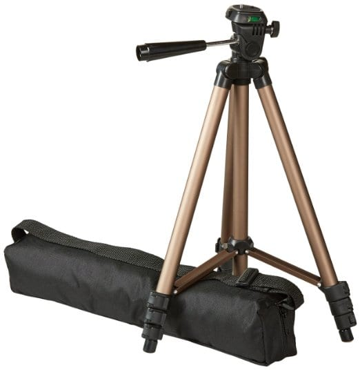 best affordable travel tripod for your carryon under $50 - Amazon Basics