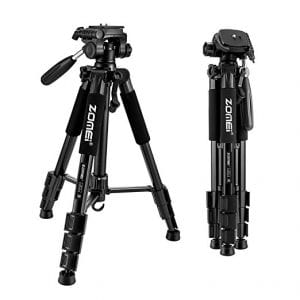 best affordable travel tripod for your carryon under $50 - Zomei