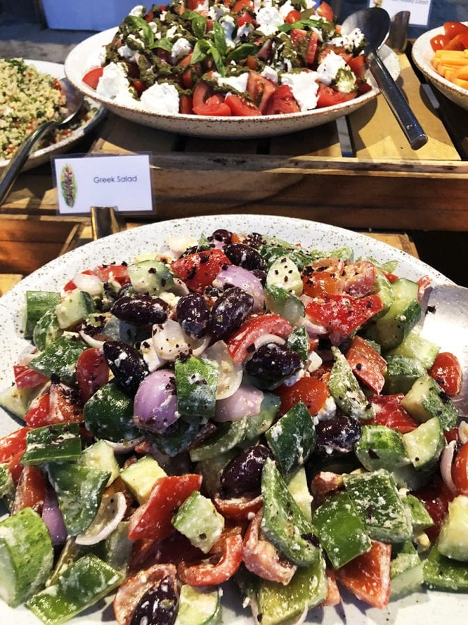 1 four seasons koh samui review - beach bbq greek salad