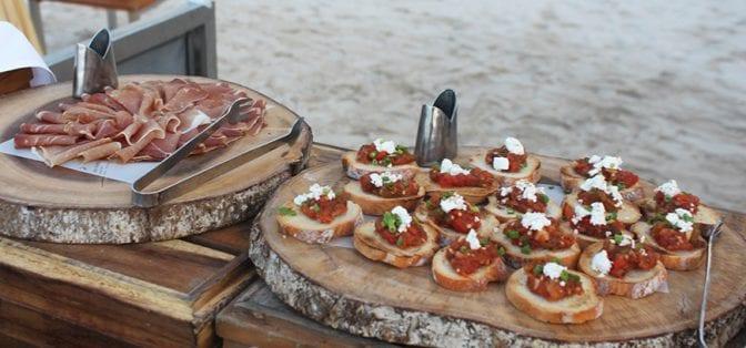 four seasons koh samui review - beach bbq appetizers