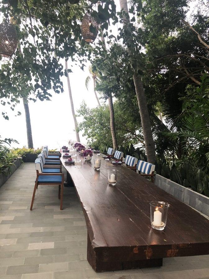 four seasons koh samui review - pla pla long table