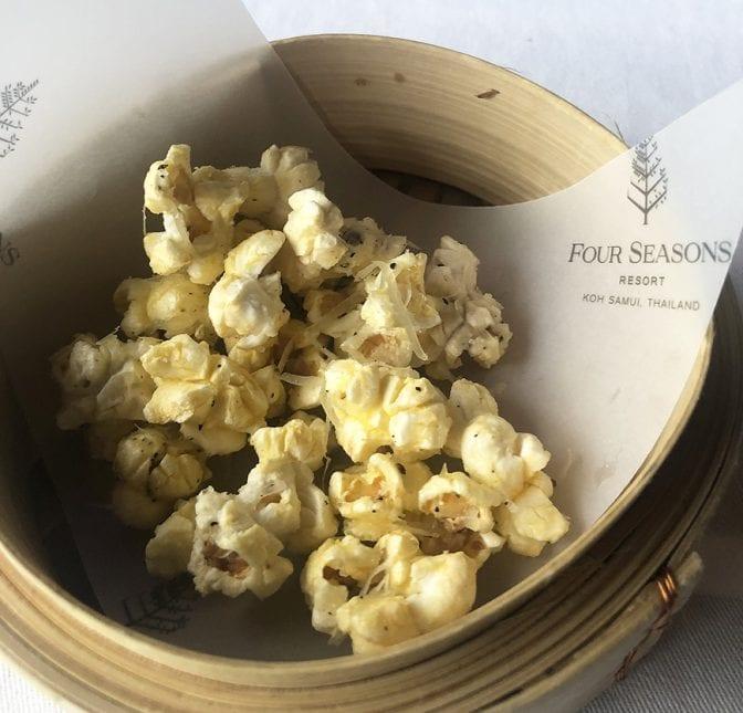 four seasons koh samui review - pla pla parmesan popcorn