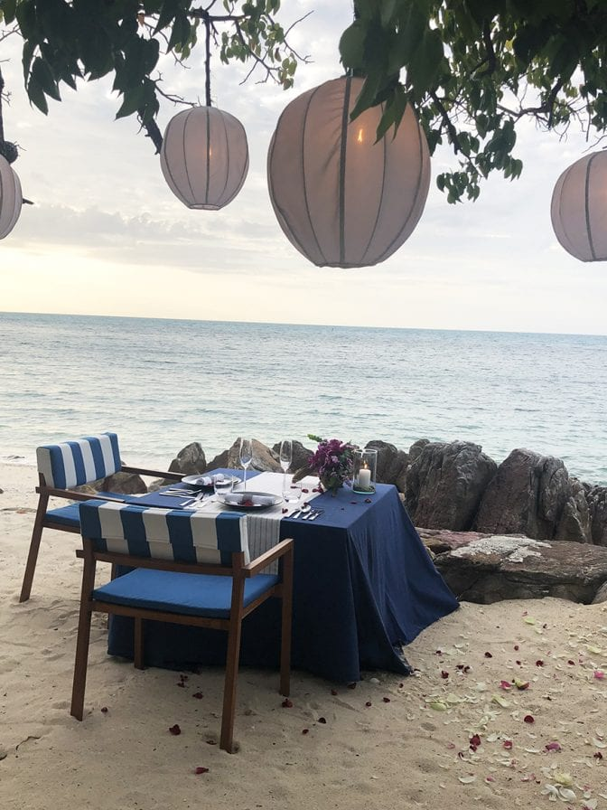 four seasons koh samui review - pla pla private table