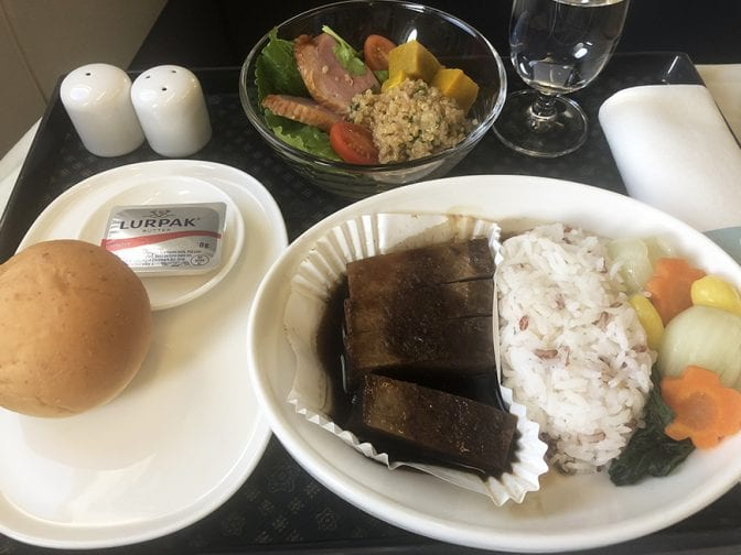 China Airlines Business Class Flight, Bangkok to Taipei BKK TPE